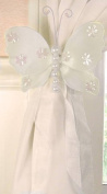 The Butterfly Grove Isabella Butterfly Curtain Tieback, Plumeria White, Small, 13cm x 10cm