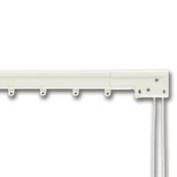 Graber Super Heavy Duty Traverse Curtain Rod 66-300cm , White (One Way Draw