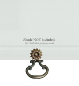 ALURA Roller Window Shade SNAP-ON Metal RING PULL - Large with Bronze Finish - NO TOOLS REQUIRED!