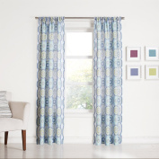 No. 918 Callie Paisley Heathered Print Curtain Panel, 100cm by 240cm , Lapis