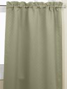 Lorraine Home Fashions Facets Room Darkening Blackout Tier Curtain Pair, 140cm by 90cm , Green
