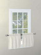 EuphoriaHome Battenburg Lace Kitchen Curtain Valance Swags Tiers