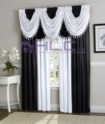 HLC.ME Hilton Crinkled Rod-Pocket Window Treatment Curtain