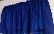 Window Curtain Valance made from Royal Blue Kona Cotton Fabric unlined 130cm wide x 38cm long
