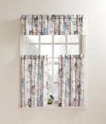 No. 918 Hoot Kitchen Curtain Valance, 140cm by 36cm , Mocha