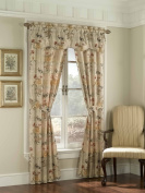 American Curtain and Home Taurus 5-Piece Window Treatment Set, 130cm by 210cm , Beige