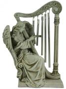 Josephs Studio Garden Wind Chime, 68367, Angel with Harp Wind Chimes, 25cm tall