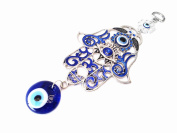 Blue Evil Eye and Hamsa Hand Hanging Ornament (With a Betterdecor Pounch)-023