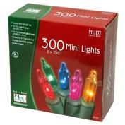 Holiday Wonderland's 300-Count Mini Multi Colour Christmas Light Set