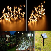 Ucharge Solar Powered LED Outdoor String Lights, 26m 200 LED Solar Fairy String Lights for Outdoor, Gardens, Homes, Christmas Party, Waterproof