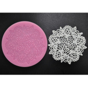 FOUR-C Cupcake Lace Mat Silicone Mould Cake Design Colour Pink
