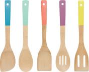 Now Designs Bamboo Utensils, Multi-Colour, Set of 5