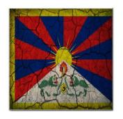 Tibet Flag Crackled Design Tile Trivet