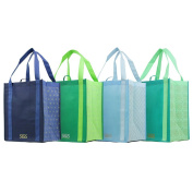 Istanbul - Graphic Pattern Prints - Reusable Reinforced Tote Bags - Set of 4