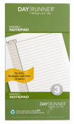 Day Runner Undated Lined Notepad Refill, 9.5cm x 17cm