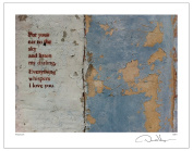 """""""Put Your Ear to the Sky and Listen My Darling, Everything Whispers I Love You"""" - Fine Art 11x14 Lithograph Poster Print. #4 from the Print Collection - A Unique and Great Anniversary Gift for Birthday, Valentines Day, Mothers Day, Fathers Day, Wedding .."""