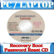 Advanced Recovery Boot Password Reset CD Disc for Windows XP, Vista, 7, 8