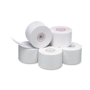 PM Company Cash Register/POS One Ply Bond Rolls, 4.4cm Width, 46m Length, White, 10 per Pack
