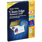 Avery 8875 - Clean Edge Business Cards, Inkjet, White - 500 Cards
