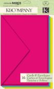K & Company Multicolor Cards & Envelopes, Colour Basics Radiant