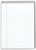 TOPS Docket Writing Tablet, 22cm x 30cm , Wire Bound, White, Legal/Wide Rule, 70 Sheets per Pad