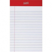 Staples Perforated Notepad, Narrow Ruled, White, 13cm x 20cm , 12/Pack