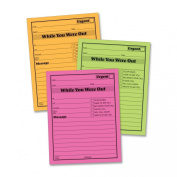 Adams Neon 13cm x 10cm While You Were Out Message Pad 6 Pack