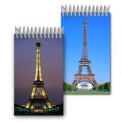 Flip Lenticular 5.1cm x 10cm 144 Page Spiral Notebook Eiffel Tower Paris France