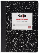 School Smart Marbleback Composition Books - UnRuled - 9 3/4 x 7 1/2 - 100 Sheets - 200 Pages
