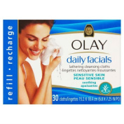 Olay Essentials Daily Facials Cleanser Refill Pack Sensitive Skin 30 per pack Case of 2