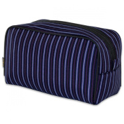 JODA Mens Black, Blue and Red stripe Boxy Travel Toiletry Wash Bag 905-986-R
