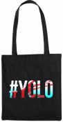 Mister Merchandise Tote Bag Yolo - You Only Live Once Shopper Shopping , Colour