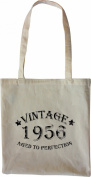 Mister Merchandise Tote Bag Vintage 1956 - Aged to Perfection 59 60 Shopper Shopping , Colour