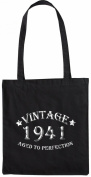 Mister Merchandise Tote Bag Vintage 1941 - Aged to Perfection 74 75 Shopper Shopping , Colour
