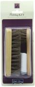 2 x Shoe String Unisex-Adult 3 piece kit Horse Hair Brush, Dauber Brush and Polishing Cloth Kit Shoe Brushes