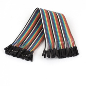2.54mm Pitch 30 Pin 30 Way F/F Rainbow Ribbon Jumper Cable Wires 20cm
