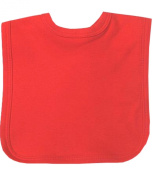 Plain Coloured Hook and loop Baby Bib in a Choice of 9 Colours - 100% Cotton One Size