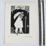 Aubrey Beardsley - Antique Print - Baron Verdigris.
