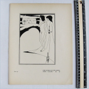 """Aubrey Beardsley - Antique Print - The Woman In The Moon. From """"Salome."""""""
