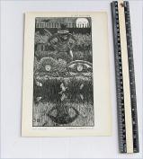 George Du Maurier - Antique Print - A Legend of Camelot Part IV
