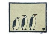 Hug Rug Bathroom 15 Penguins Mat, Highly Absorbent, Machine Washable, Size 65x85cm
