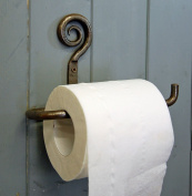 Traditional forged folk toilet roll holder antique finish