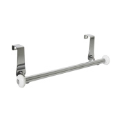 InterDesign York Over-the-Cabinet Kitchen Dish Towel Bar Holder - White/Chrome