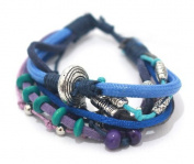 Beautiful Wrist Chain Anklet with Several Strands, Diverse Spheres, Rings from Bali, Costume Jewellery