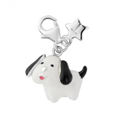 Sterling silver Clip on Tingle Puppy Dog Charm SCH285