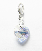 Genuine Silver 925 lovely crystal heart clip on charm ideal for Thomas Sabo bracelet or necklace