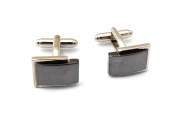 Silvery and Black Cufflinks