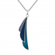 Sea Gems Rennie Mackintosh Fine Enamel Plume Necklace - 7341