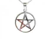 Sterling Silver 925 Pentagram Pendant (18 mm) With Sterling Silver 925 chain Necklace