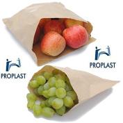 100 x Pro Plast Branded ® BROWN 25cm x 25cm Strung Kraft Paper Food Bags 25cm x 25cm